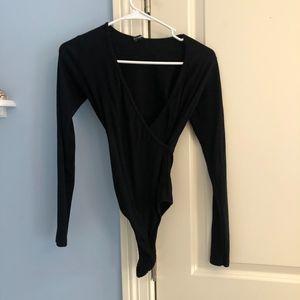 Brandy Melville Black Long Sleeve Body Suit